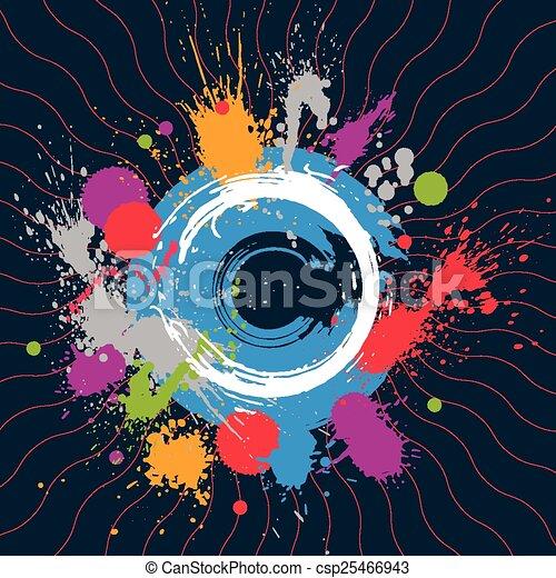 vecteur, éclaboussure, seamless, coloré, encre - csp25466943