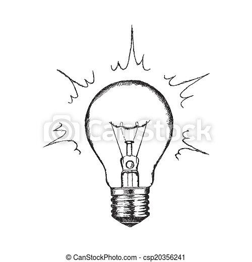 vecteur, éclairage, concept, créativité, bulb. - csp20356241