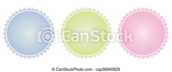 vecteur, écusson, gabarit, illustration, vide - csp36940829