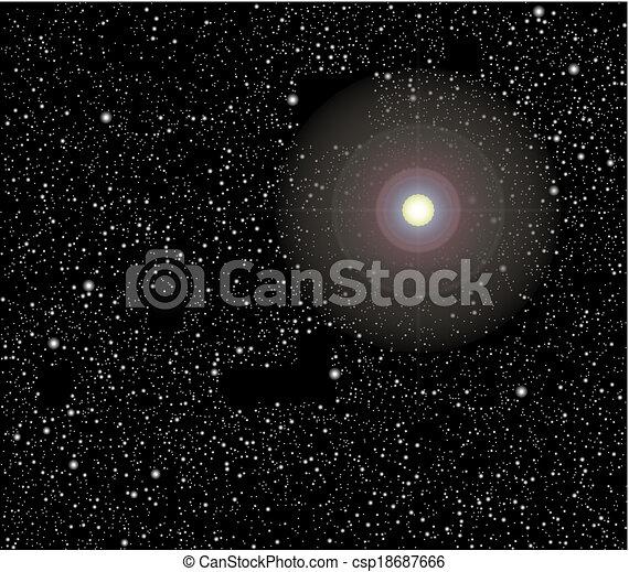 vecteur, étoiles, espace - csp18687666