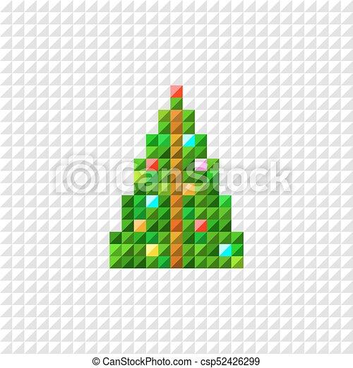 Vecteur Arbre Art Pixel Noël