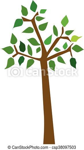 vecteur, arbre - csp38097503