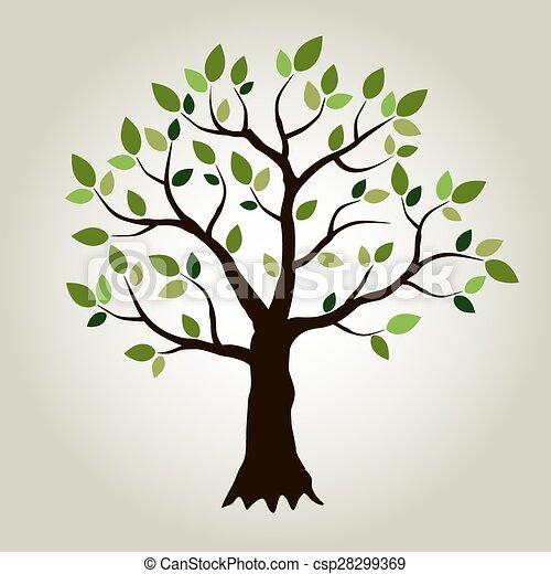 vecteur, arbre - csp28299369