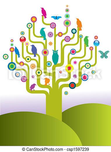vecteur, arbre - csp1597239