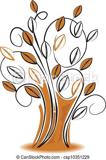 vecteur, arbre - csp10351229