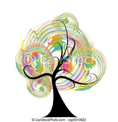 vecteur, arbre - csp5910822