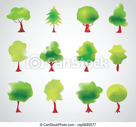 vecteur, arbre - csp5693577
