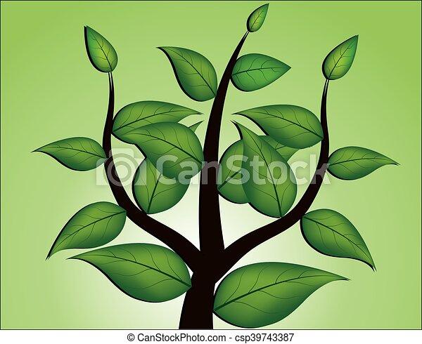vecteur, arbre - csp39743387