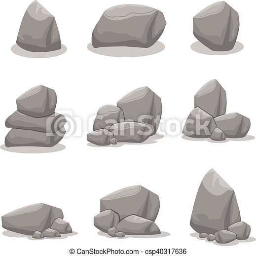 Vecteur art illustration rocher art illustration vecteur collection rocher stockage - Rocher dessin ...