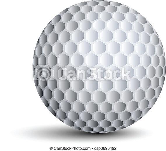 vecteur, balle golf - csp8696492