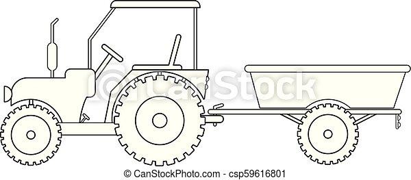 Vecteur Bas Page Tracteur Dessin 10 Eps Vecteur Tracteur Dessin Caravane Canstock