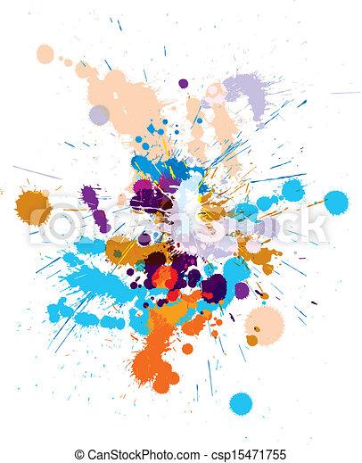 vecteur, blots, ensemble, coloré - csp15471755