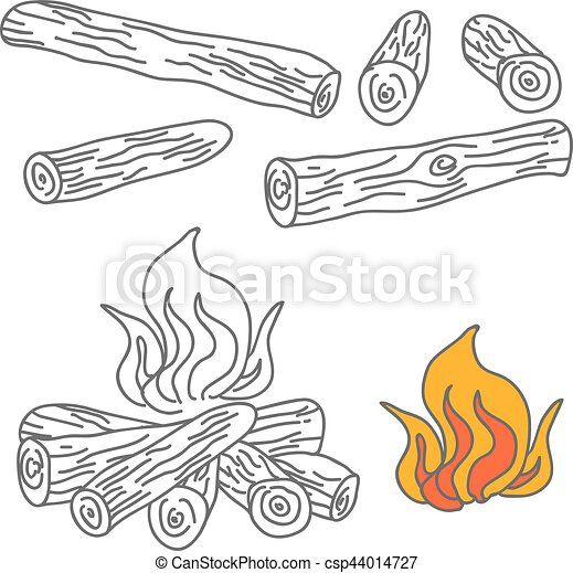 vecteur bois br ler ensemble feu camp illustration illustration vectorielle rechercher des. Black Bedroom Furniture Sets. Home Design Ideas