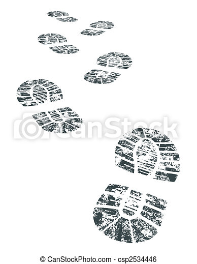 vecteur, bootprint - csp2534446