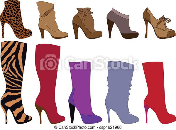 vecteur, bottes, chaussures - csp4621968