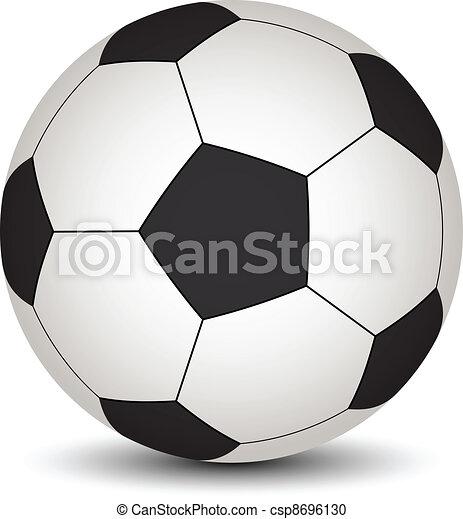 vecteur, boule football - csp8696130