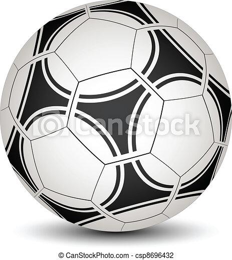 vecteur, boule football - csp8696432