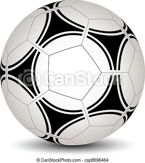 vecteur, boule football - csp8696464