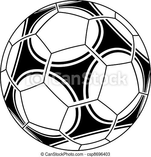 vecteur, boule football - csp8696403