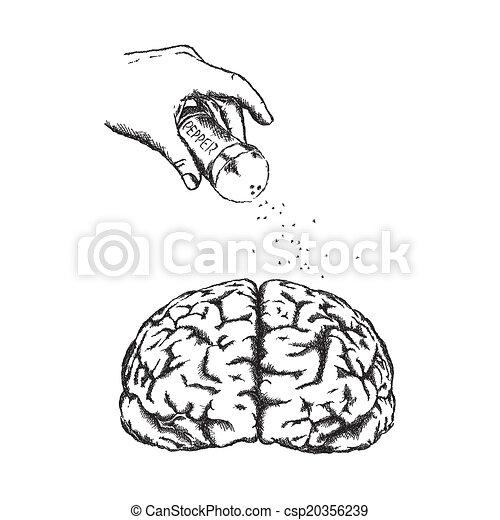 vecteur, brain., concept, créativité, humain - csp20356239