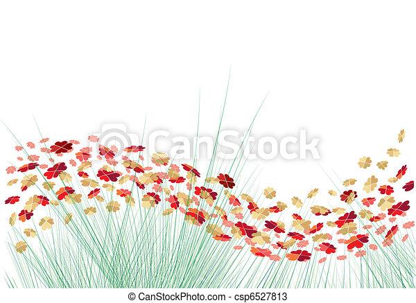 vecteur, cœurs, fleurs - csp6527813