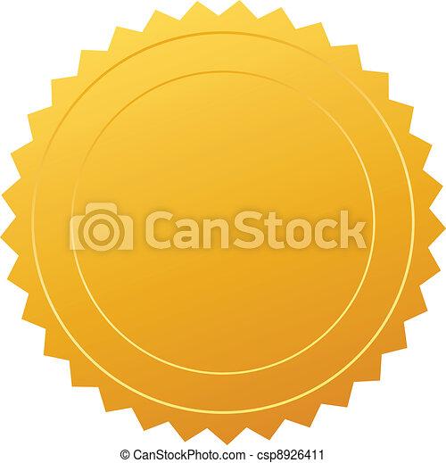 vecteur, certificat, cachet - csp8926411