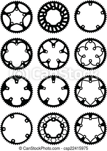 vecteur, chainrings, meute - csp22415975