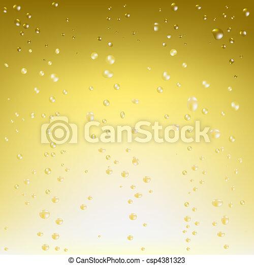 vecteur, champagne, fond - csp4381323