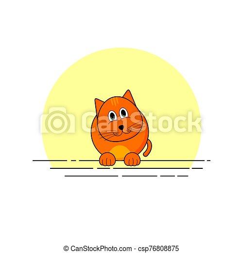 vecteur, chat, simple, illustration - csp76808875