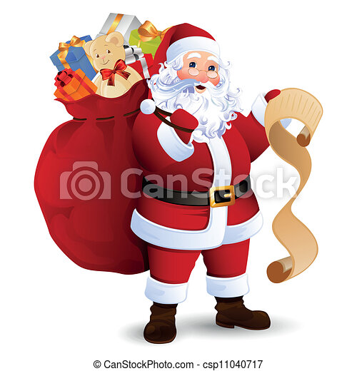 vecteur, claus, santa - csp11040717