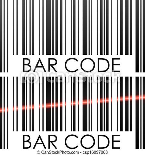 vecteur, code, barre, illustration., isolé, concept, fond, blanc - csp16037068