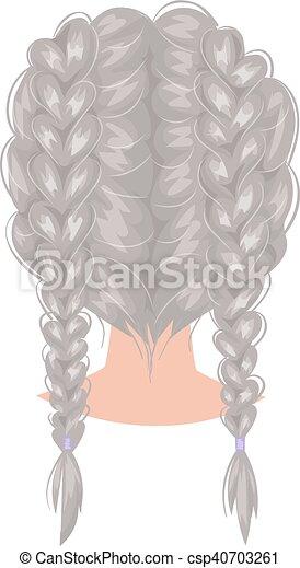 Coupe De Cheveux Femme Vue De Dos
