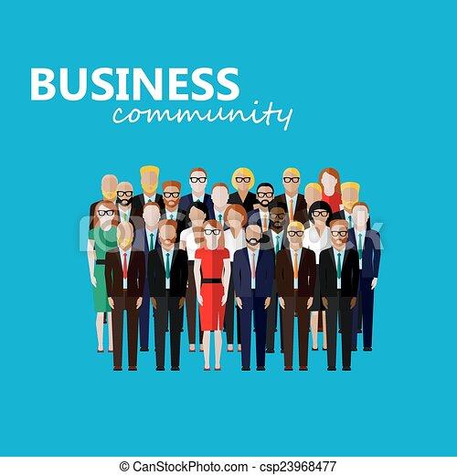 vecteur, community., l, business, politique, ou, plat, illustration - csp23968477