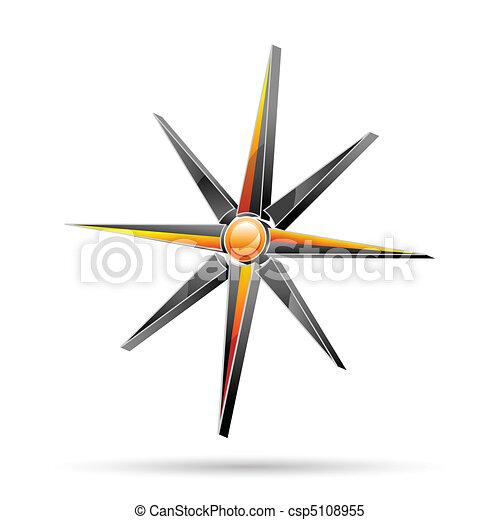 vecteur, compas - csp5108955