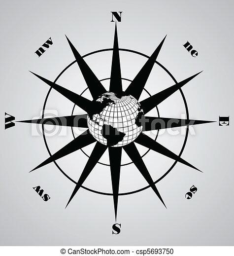 vecteur, compas - csp5693750