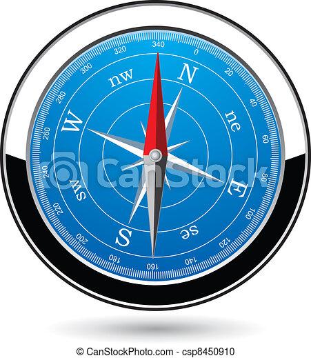 vecteur, compas - csp8450910