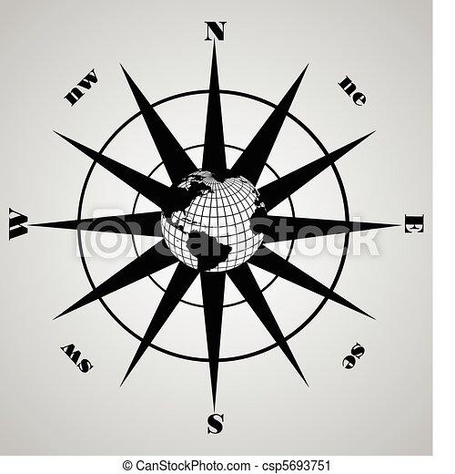 vecteur, compas - csp5693751