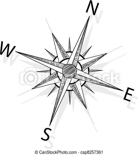 vecteur, compas - csp8257361