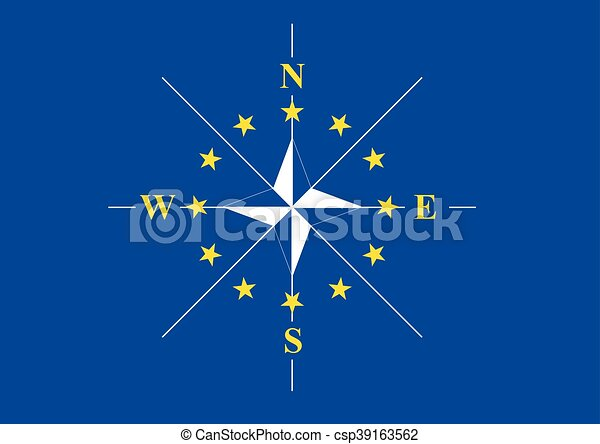 vecteur, compas - csp39163562