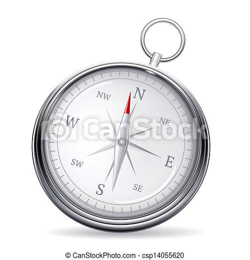 vecteur, compas - csp14055620