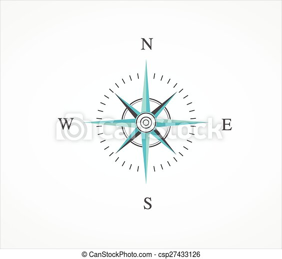 vecteur, compas - csp27433126