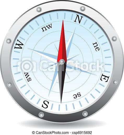 vecteur, compas - csp6915692