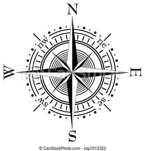 vecteur, compas - csp7012322