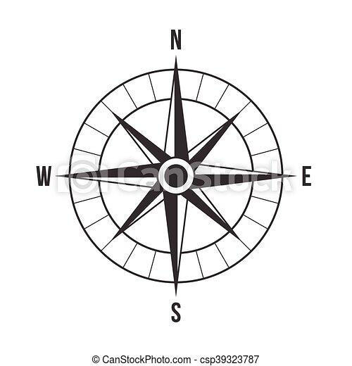 vecteur, compas - csp39323787
