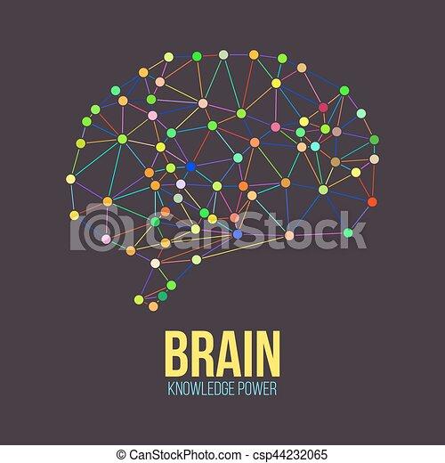 vecteur, concept, cerveau, humain, créatif - csp44232065