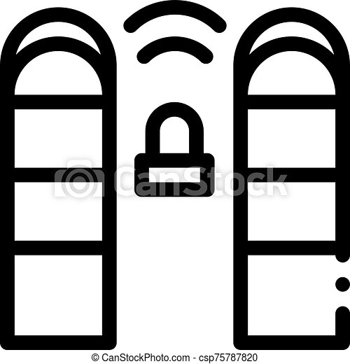 vecteur, contour, reveil, signal, contrôle, illustration, icône - csp75787820