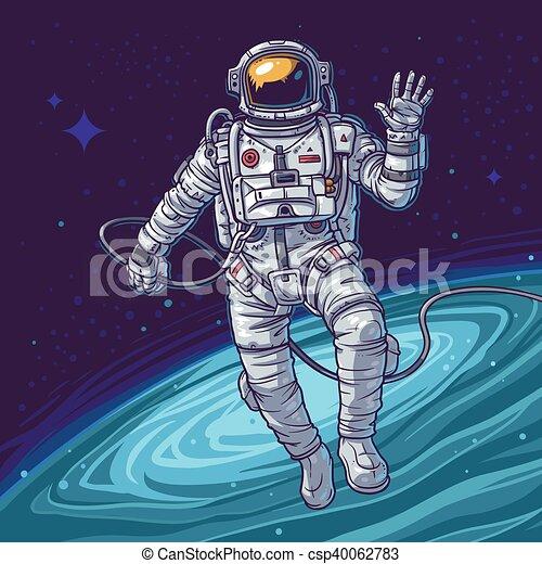 Vecteur Cosmonaute Illustration Cosmonaute Cosmique