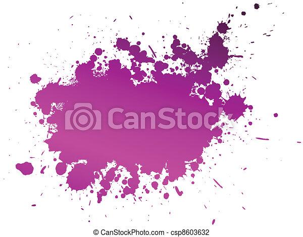vecteur, couleur, éclaboussure, fond, illustration - csp8603632