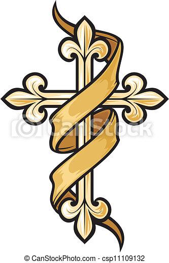 vecteur, croix, illustration - csp11109132