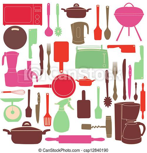 Vecteur cuisine outils illustration cuisine vecteurs for Cuisine outils